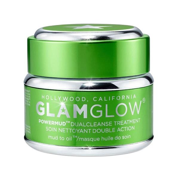 ماسک پاکسازی صورت دوگانه Powermud گلم گلو Glamglow   تمیزکننده عمیق و موثر پوست و منافذ