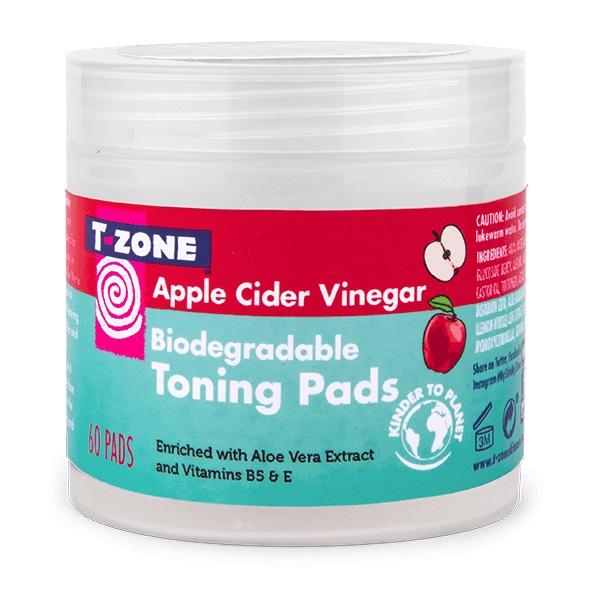 پد سرکه سیب تی زون (T-Zone) - ضد باکتری و جوش، متعادل کننده چربی پوست- 60 عددی