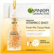 ماسک ورقهای آبرسان و ویتامین سی گارنیر | مدل Fresh-Mix درخشان و روشن کننده، احیا و رفع خشکی | ۳۳ گرم
