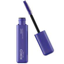 ریمل رنگی آبی کیکو (kiko) اصل | مدل smart colour حجم دهنده و بلند کننده مژه