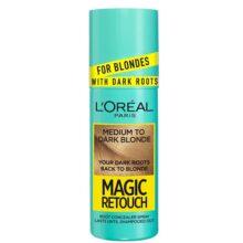 اسپری رنگ (کانسیلر) ریشه مو لورال مدل Magic Retouch | رنگ Medium to Dark Blonde | حجم ۷۵ میل