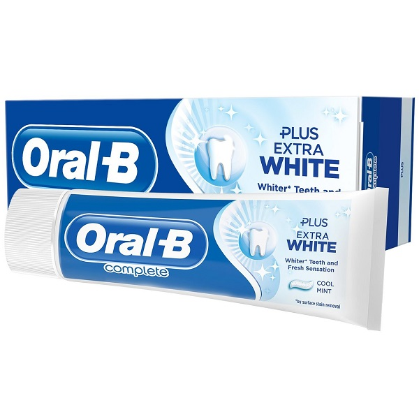 خمیر دندان کامپلت Complete اورال بی (Oral-B) اصل انگلیس | ضد پوسیدگی، سفید کننده، نعنایی | Complete Plus Extra White Cool Mint Toothpaste