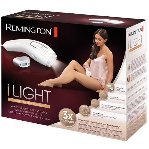 دستگاه لیزر بدن خانگی مدل IPL8500 رمینگتون اصل | برای استفاده زنان و مردان، مخصوص بدن و صورت، مجهز به تشخیص خودکار رنگ پوست Remington