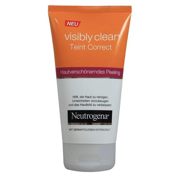 ژل شستشو و پاکسازی روزانه نیتروژنا اصل آلمان   مدل Visibly Clear   لایه بردار Neutrogena حاوی سالیسیلیک اسید، انواع پوست   150 میل