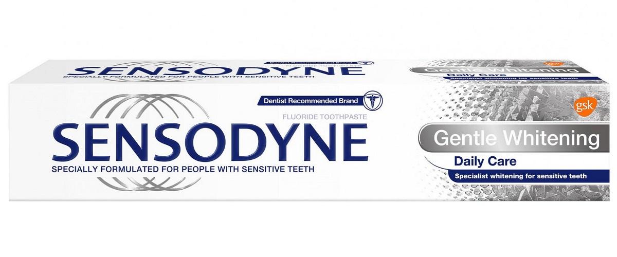 خمیر دندان سفید کننده سنسوداین Sensodyne اصل انگلیس | مدل Gentle Whitening Daily Care | استفاده روزانه برای دندان های حساس