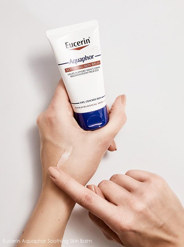 بالم ترمیم کننده و بازسازی کننده اوسرین مدل Aquaphor Soothing   بالم تسکین دهنده آکوافور Eucerin برای پوست آسیب دیده و زخم شده خشک تا بسیار خشک