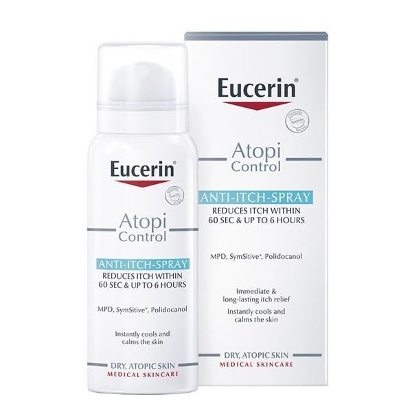 اسپری ضد التهاب و خارش پوست اوسرین مدل AtopiControl Anti-Itch   ضد خارش موضعی و فوری در 60 ثانیه آتوپی کنترل Eucerin