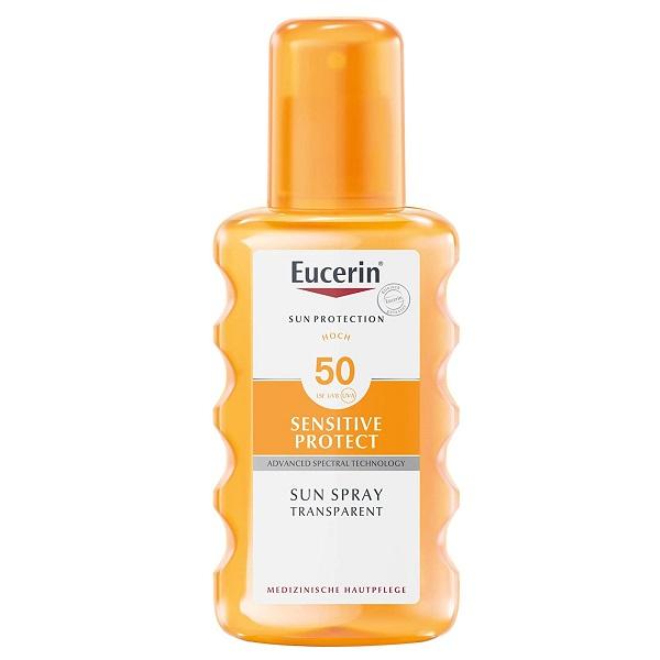 اسپری ضد آفتاب بی رنگ spf50 اوسرین Eucerin | فاقد چربی و ضد آب، مناسب پوست چرب و مستعد جوش