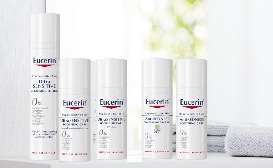 کرم مرطوب کننده پوست آسیب دیده و بسیار حساس اوسرین مدل UltraSENSITIVE | ضد حساسیت آبرسان ترمیم کننده پوست مختلط و نرمال Eucerin Soothing Care