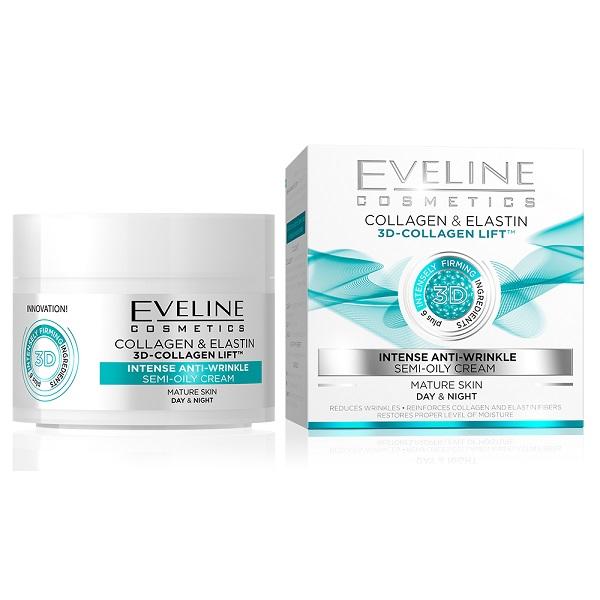 کرم جوانساز کلاژن و الاستین اولاین Eveline Collagen & Elastin 3D-Collagen Lift | لیفت و جوانساز قوی، پوست نرمال و مختلط چرب