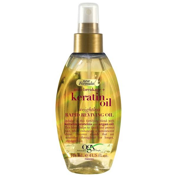 سرم مو روغن کراتین او جی ایکس اصل (کراتین اویل) OGX Anti-Breakage Keratin Oil Rapid Reviving Hair Oil Spray