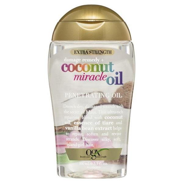 سرم مو روغن نارگیل ميراكل او جی ایکس (کوکونات اویل) | OGX Extra Strength Damage Remedy + Coconut Miracle Oil Penetrating Hair Oil Treatment 100ml