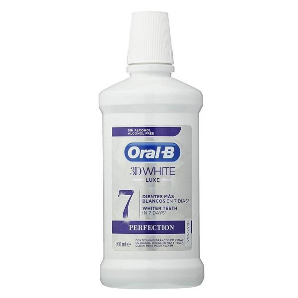 دهانشویه سفیدکننده اورال بی مدل تری دی وایت Oral-B Pro- 3D White Luxe Perfection Mouthwash