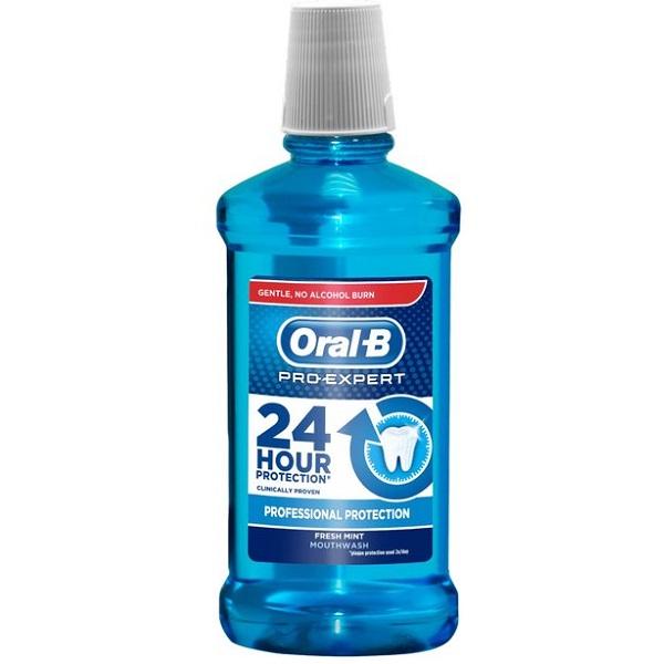 دهانشویه اورال بی مدل Pro Expert (تولید Oral-B اصل انگلیس )| نعنایی، ضد باکتری، ضد پوسیدگی