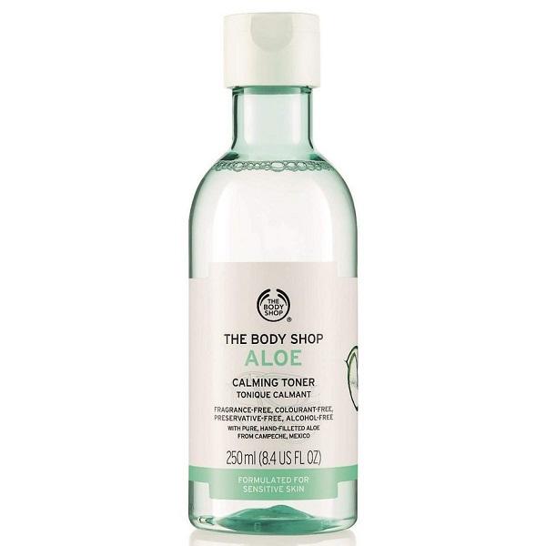 تونر آلوئه ورا پوست حساس بادی شاپ اصل مناسب پوست حساس، تسکین دهنده قوی و آبرسان | The Body Shop Aloe Calming Toner