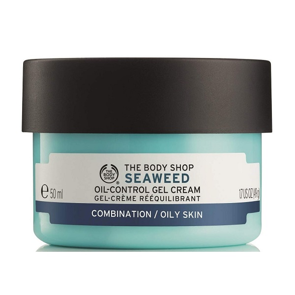 ژل کرم آبرسان و مرطوب کننده سیوید بادی شاپ اصل انگلیس (جلبک دریایی) برای پوست چرب و مختلط چرب 50 میلی لیتر | The Body Shop Seaweed Oil-Control Gel Cream