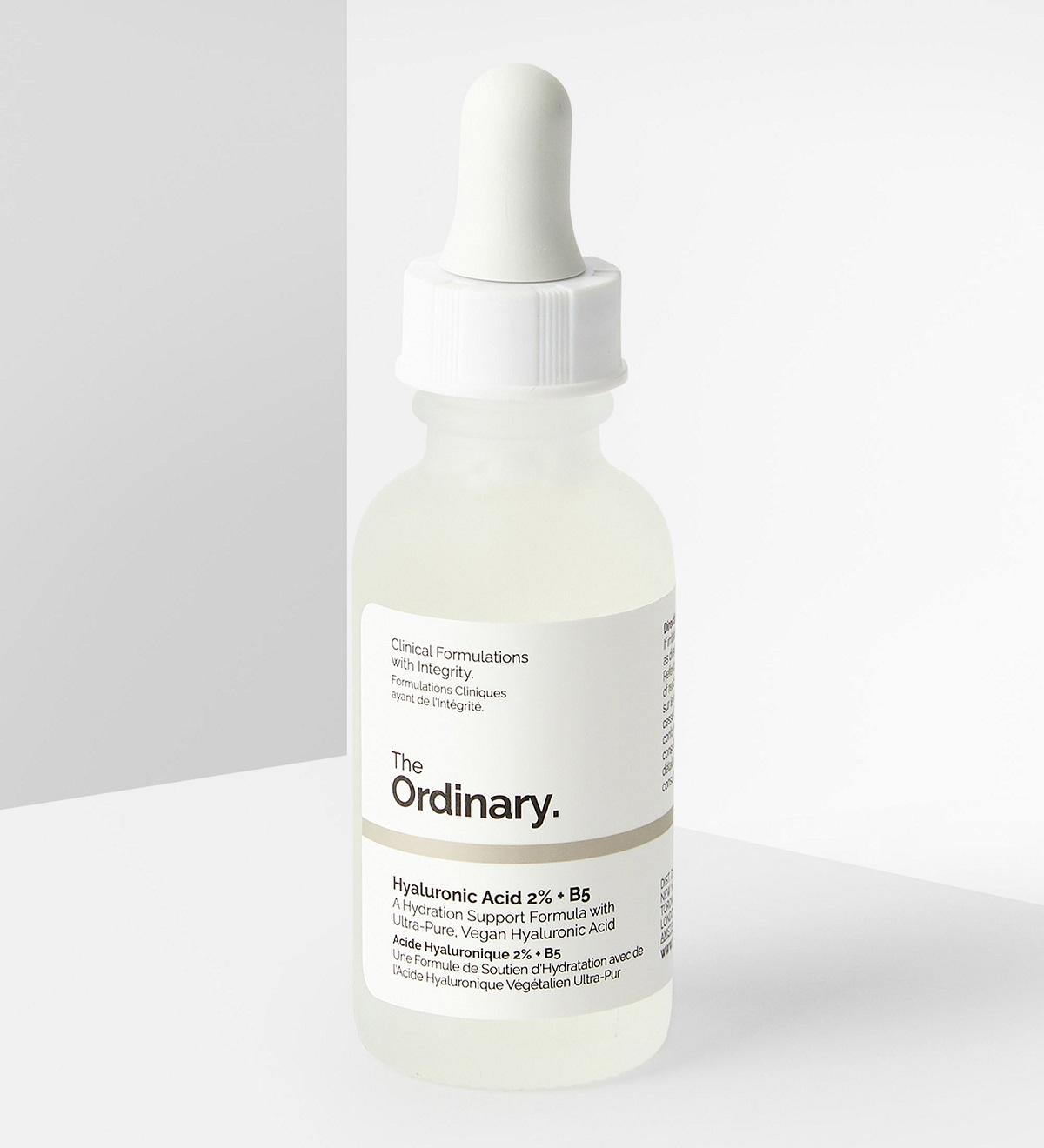 سرم هیالورونیک اسید 2% و B5 اوردینری اصل ( سرم صورت آبرسان قوی، ضد چروک، صاف کننده پوست، ضد خشکی و خطوط ناشی از پیری زودرس، انواع پوست) The Ordinary Hyaluronic Acid 2% + B5