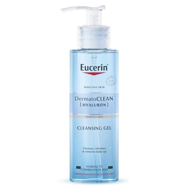 ژل شستشوی هیالورون درماتوکلین اوسرین (شستشوی صورت و پاک کننده آرایش هیالورونیک اسید اوسرین مدل Dermato Clean برای پوست نرمال و مختلط) Eucerin DermatoCLEAN [HYALURON] Cleansing Gel