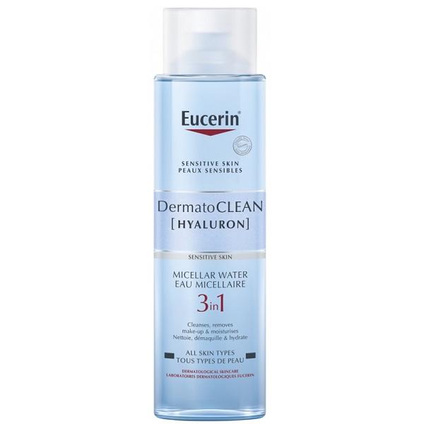 میسلار واتر هیالورون درماتوکلین پوست حساس اوسرین (3 در 1) Eucerin DermatoCLEAN [HYALURON] Micellar Water