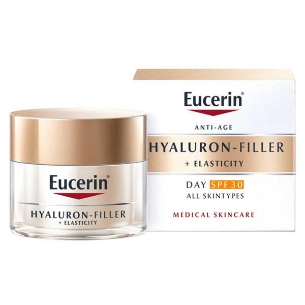 کرم روز ضد چروک هیالورون فیلر الاستیسیتی اوسرین حاوی ضد آفتاب spf30 برای انواع پوست (Eucerin Hyaluron-Filler + Elasticity Day Cream SPF 30, 50ml)