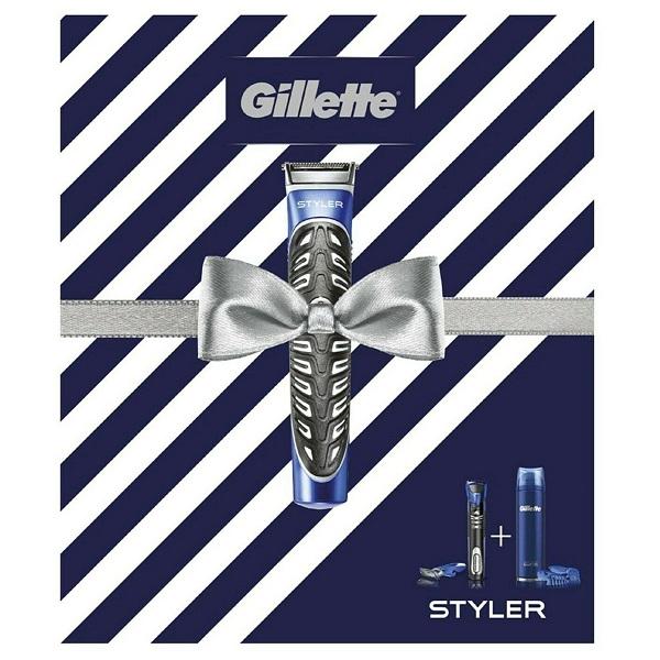ست هدیه اصلاح مردانه Styler ژیلت (پک استایلر Gillette) | حاوی ریش تراش و ژل اصلاح