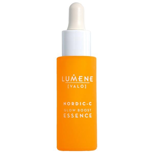 اسنس سرم درخشان کننده ویتامین سی لومن (روشن کننده، آبرسان، ضد لک و تیرگی) Lumene Valo Vitamin C Glow Boost Essence with Hyaluronic Acid 30ml