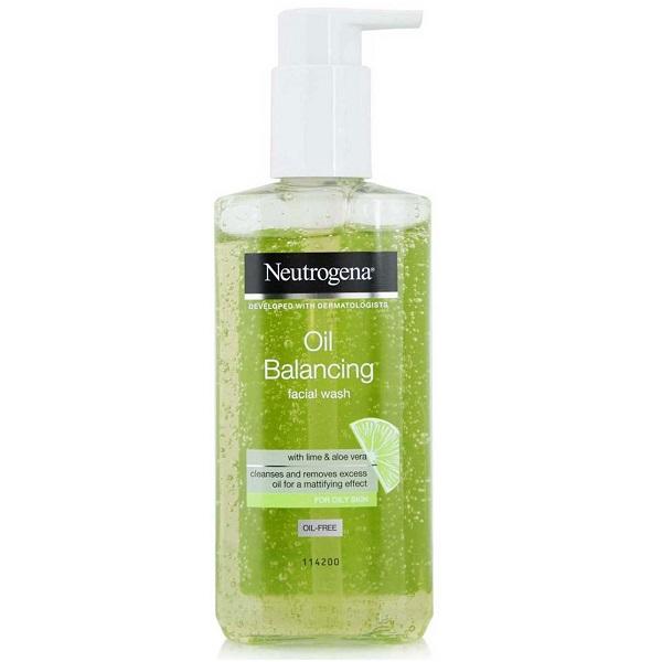 ژل شستشوی لیمو و آلوئه ورا نیتروژنا (نوتروژنا- نوتروژینا) مخصوص پوست چرب و بسیار چرب، کنترل چربی پوست و مات کننده - Neutrogena Oil Balancing Facial Wash
