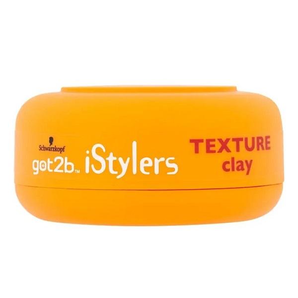 وکس موی حالت دهنده مات خاک رس got2b گات تو بی اصل مدل مدل iStylers Texture Clay