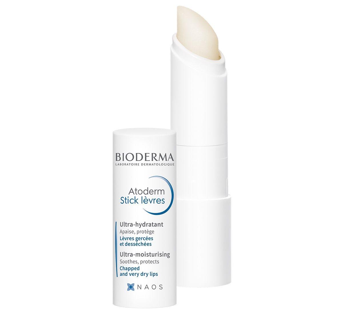 بالم لب اتودرم بایودرما اصل فرانسه (بیودرما) ترمیم کننده و مرطوب کننده فوری لب های خشک و ترک خورده - Bioderma Atoderm Lip Stick