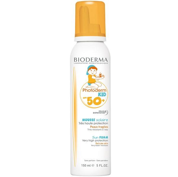 فوم ضد آفتاب کودک بایودرما - موس ضد آفتاب بچگانه بیودرما - Bioderma Photoderm Kid Mousse SPF50+ 150ml