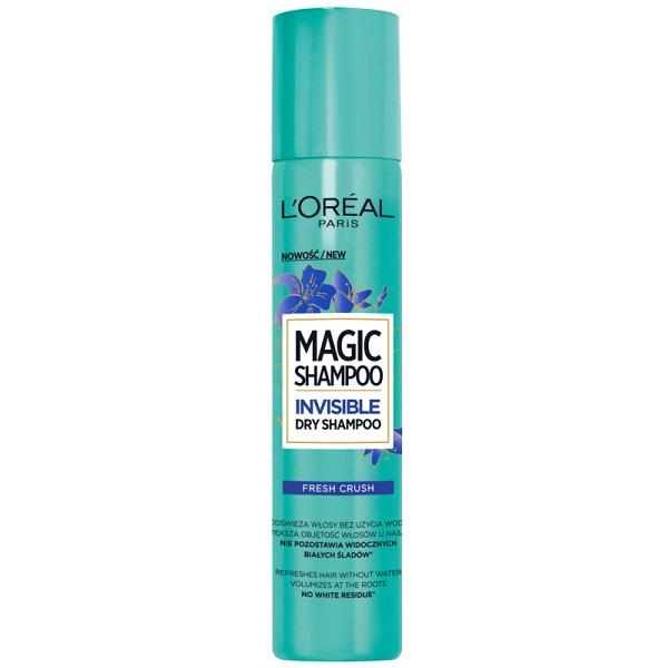 اسپری شامپو خشک مو Fresh Crush لورال پاریس فرانسه اصل – مجیک فرش کراش تازه کننده رفع چربی و حجم دهنده سریع مو (L'Oreal Magic Shampoo Fresh Crush Invisible Dry Shampoo, 200ml)