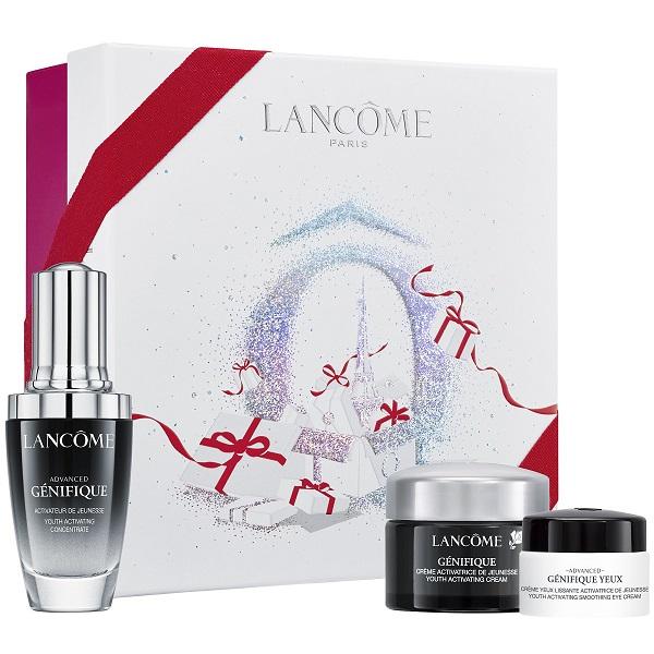 ست سرم لانکوم ژنفیک (جنفیک) 30 میلی لیتری همراه کرم روز و شب ژنفیک لانکوم ۱۵ میل + دور چشم ژنفیک ۵ میل (Lancome advanced Genifique serum 30ml skin care gift set)