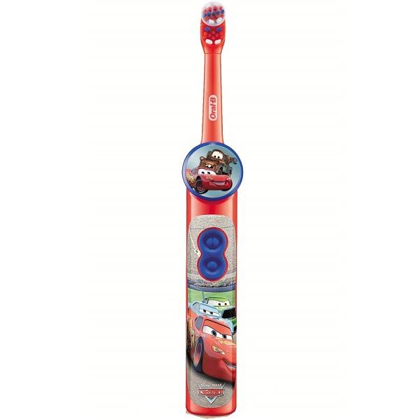 مسواک برقی کودک Cars اورال بی مسواک بچگانه ماشین باتری خور اصل انگلیس (Oral-B Stages Power Kids Disney Cars Battery Toothbrush With Timer App)