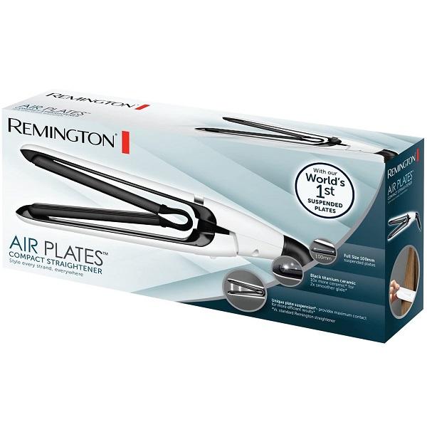 اتو مو رمینگتون مدل S2412 - صاف کننده و حالت دهنده مو - مجهز به صفحات سرامیک تیتانیوم - Remington Air Plates Compact Straightener S2412