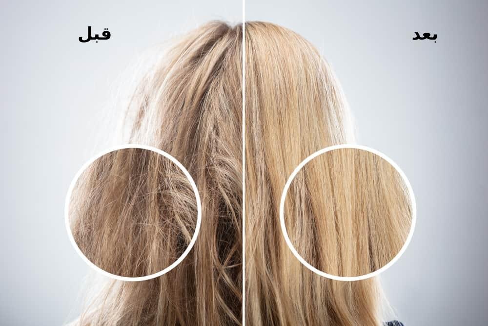 قبل و بعد استفاده از شامپو مو خشک