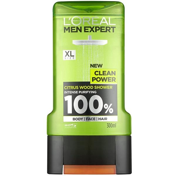قیمت و خرید شامپو سر و بدن لورال مدل clean power – شاور ژل شامپو بدن و مو مردانه لورآل پاریس Loreal Men Expert