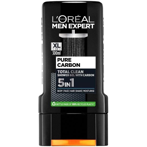 قیمت و خرید شامپو سر و بدن لورال مدل Clean Carbon – شاور ژل مردانه شستشوی مو و بدن کربن (ذغال فعال) لورآل پاریس Loreal