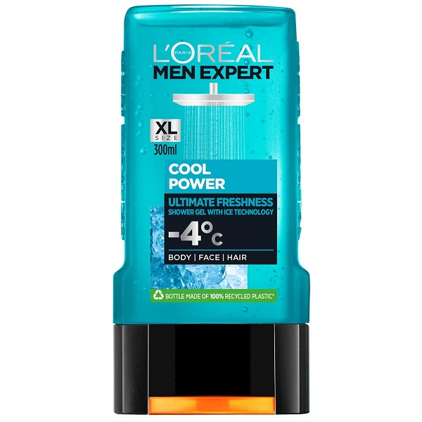 قیمت و خرید شامپو سر و بدن لورال مدل cool power – شاور ژل شوینده بدن و موی لورآل پاریس Loreal Men Expert