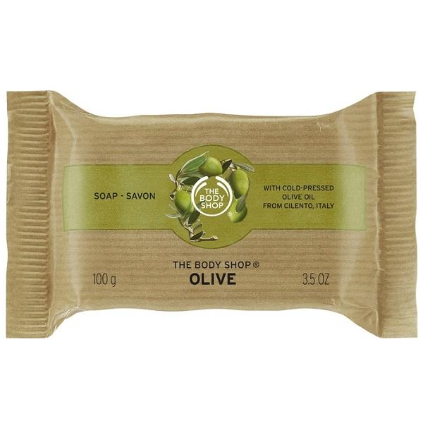 صابون زیتون بادی شاپ تولید انگلیس – صابون گیاهی ارگانیک نرم کننده پوست بدن - The Body Shop Olive Soap 100g