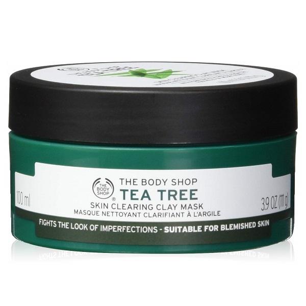 ماسک خاک رس تی تری بادی شاپ - ماسک ضدجوش روغن درخت چای بادیشاپ - The Body Shop Tea Tree Skin Clearing Clay Mask 100ml
