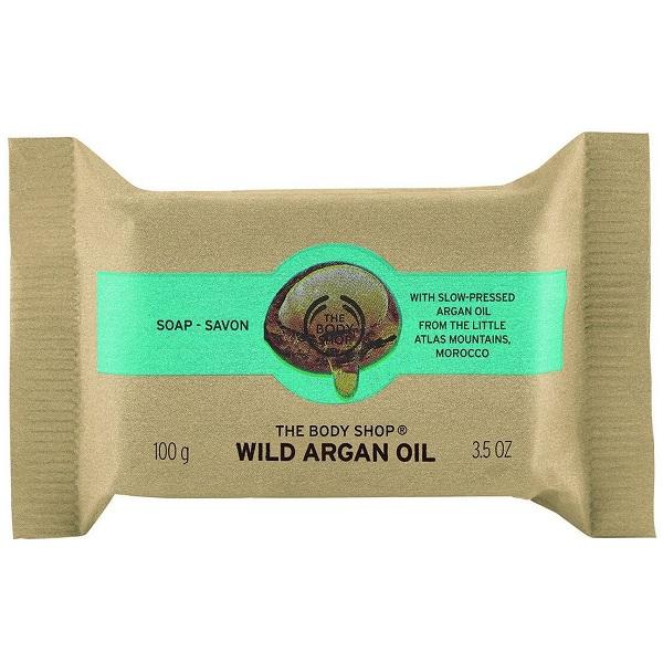 صابون روغن آرگان بادی شاپ حایو روغن سویا برزیل و روغن آرگان مراکش نرم و لطیف کننده پوست - The Body Shop Wild Argan Oil Soap 100g
