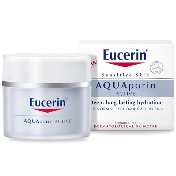 قیمت و خرید کرم آبرسان اوسرین برای پوست چرب کرم مرطوب کننده Eucerin مدل آکواپورین AQUAporin برای پوست نرمال تا مختلط