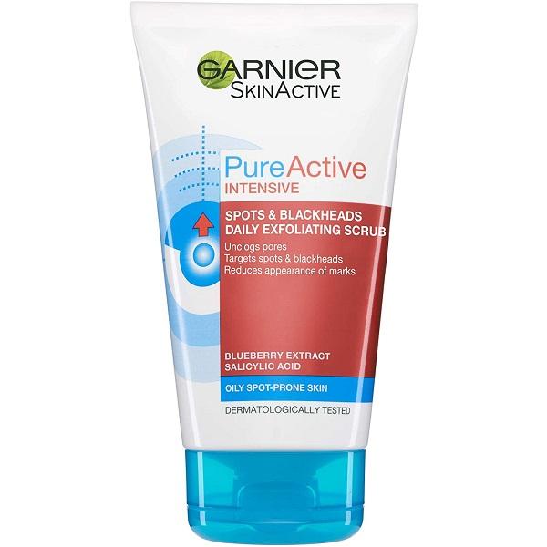 قیمت و خرید اسکراب کرمی روزانه ضد جوش گارنیر اصل - شوینده و اسکراب پوست چرب Pure Active گارنیه Garnier