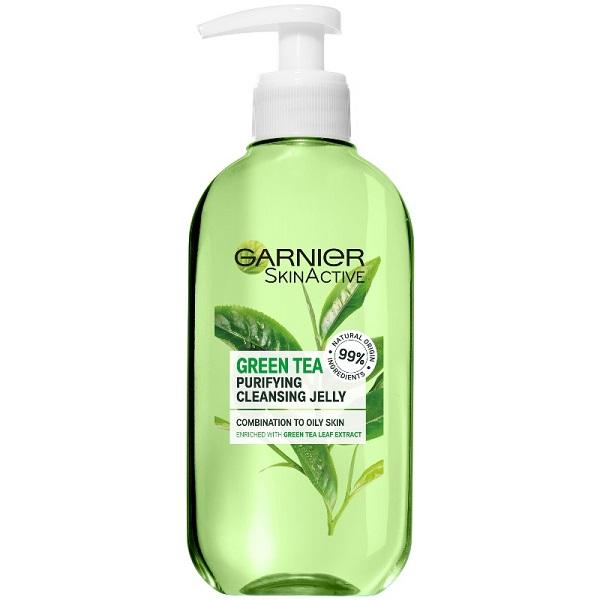 قیمت و خرید ژل شستشوی صورت چای سبز گارنیر برای پوست مختلط و چرب Garnier Skinactive Green Tea